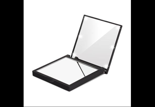 lighted travel makeup mirrors portable led illuminated mirrors. Black Bedroom Furniture Sets. Home Design Ideas