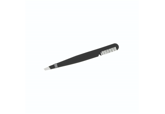 PROFESSIONAL TWEEZERS WITH COMB